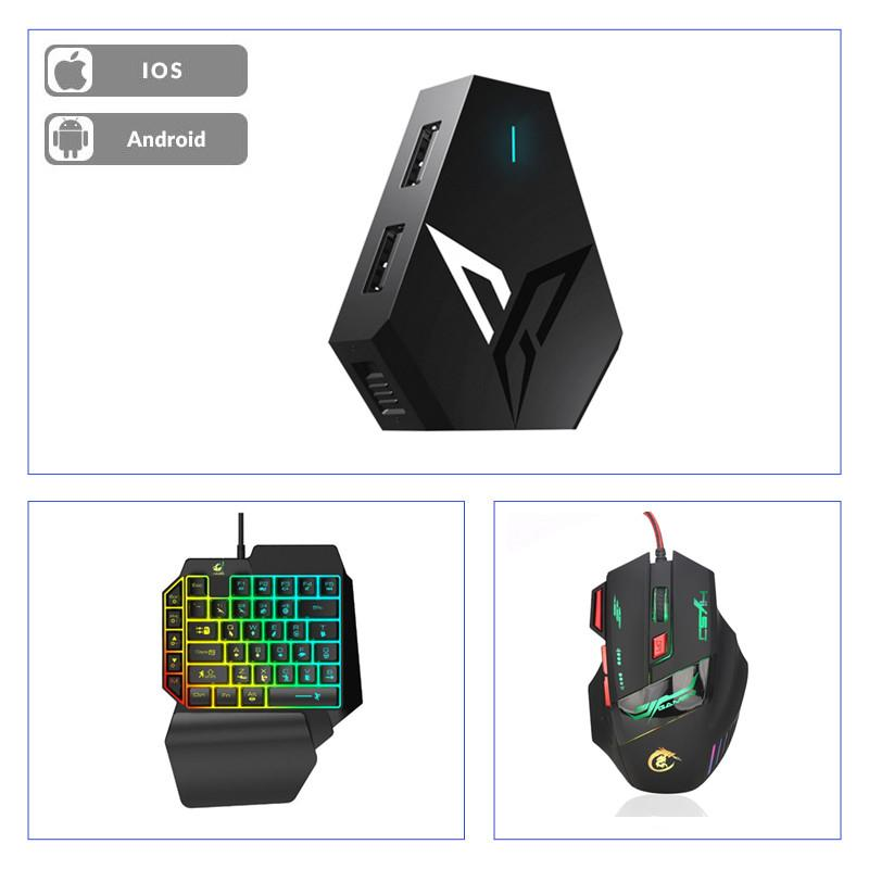 Flydigi Q1 Mouse and Keyboard Converter adapter PUBG battleDock for PUBG Bluetooth auxiliary controller support Android/IOS(China)