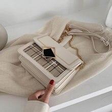 Простая маленькая квадратная сумка в британском стиле женская