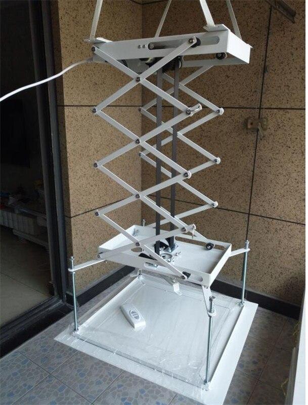 Ciseaux électriques motorisés d'ascenseur de support de projecteur de 70cm avec le support électrique à distance de bâti de plafond pour l'école de Hall d'église de cinéma