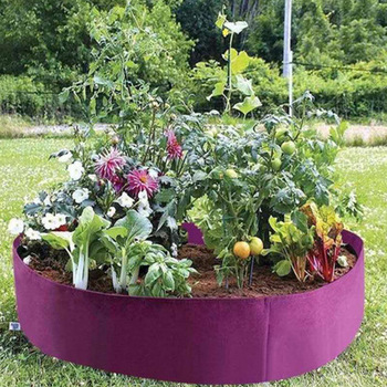 Fabric Raised Garden Bed 50 Gallons Round Planting Container Grow Bags Breathable Felt Fabric Planter Pot for Plants Nursery Pot classic pot for planting