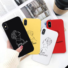 GYKZ Bangtan Boys KPOP Mans Phone Case For iPhone XS MAX X XR 7 8 6 6s Plus Art Line Soft Silicone Back Cover Coque
