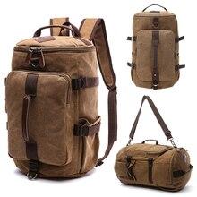 3in1 빈티지 배낭 여행 가방 남자 남성 배낭 학교 가방 대용량 다시 팩 소녀 소년을위한 휴대용 더플 백 팩