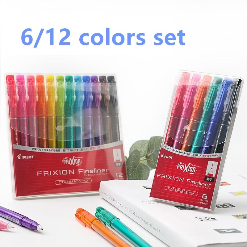 PILOT DPK-SFFL Friction Rub FRIXION Fineliner Erasable Art Marker Set 0.45mm Watercolor Pens Drawing DIY Graffiti Supplies
