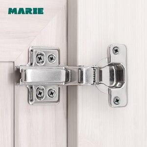 HH103-C, петля для дверцы кухонного шкафа с плавным закрытием, полная накладка для незаметной гидравлической петли для дверцы мебели, шкафа
