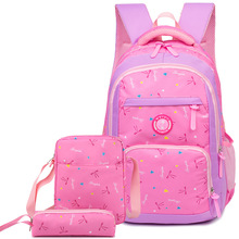 Litthing 3pcs/set Children School Backpack For Girl Cartoon Bags Waterproof Child Schoolbag Mochilas Escolares
