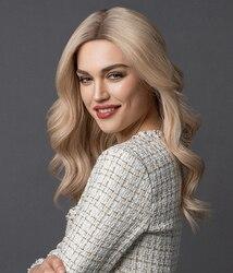 Блондинка изюминка Remy человеческие волосы Синтетические волосы на кружеве парик плотность 130% натуральные прямые Волнистые Для женщин пари...