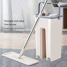 magic mop for wash floor mop cleaner cleaning bucket flat spin mop bucket floor house cleaning easy home cleaning 360°rotation