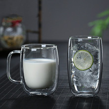 25-450ml Heat Resistant Double Wall Glass Cup Skull Shot Tea Whiskey Beer Wine Milk Coffee Mug Cat Feet/ Heart Love Shaped