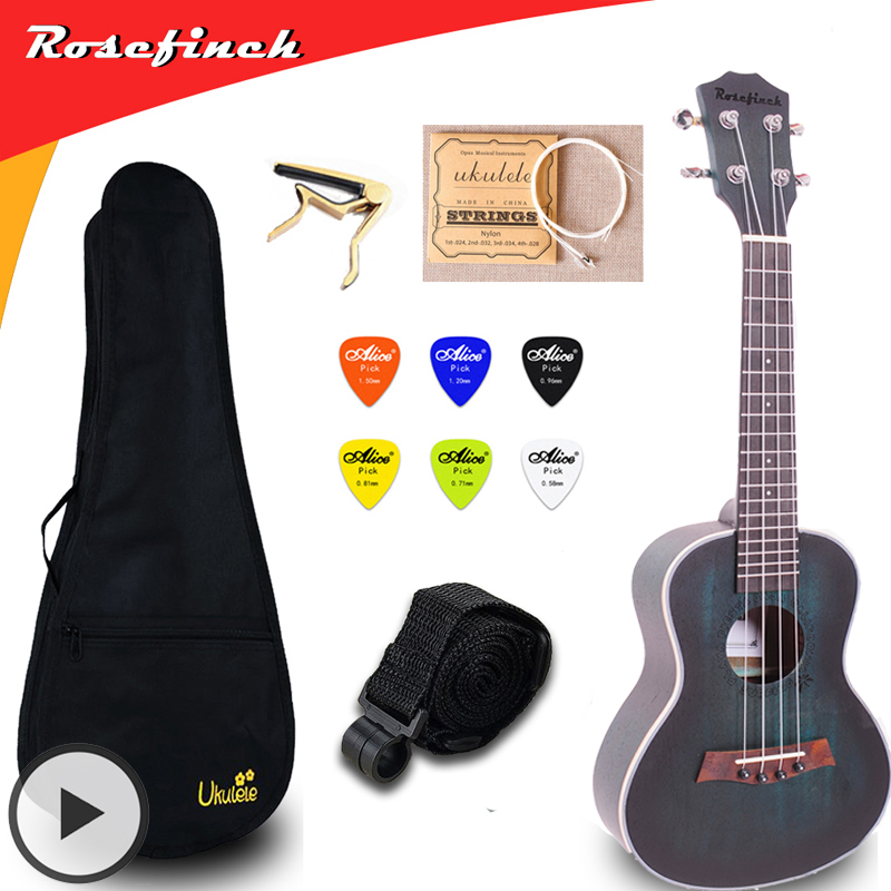 23 Inch Concert Ukulele Electric Mini Guitar Mahogany Ukelele With Bag Capo String Strap Picks Gift Hawaii Guitar UKU UK2329A