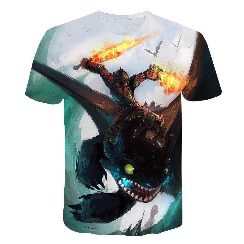 Boys t shirt Summer Kids T-shirt How To Train Your Dragon 3 Cartoon 3D Print T Tees Girls Tops Children Shirt