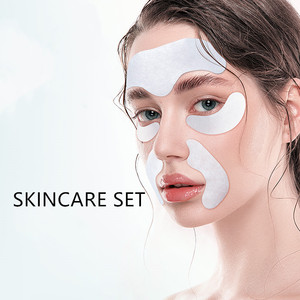 Ilisya Skincare Mask Sets Eye Mask (1 Pair), Forehead Patch (1 PC), Nasolabial Folds Patch (1 Pair)- Wrinkles Remover Anti-Aging