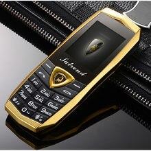 Luksusowe metalowe BodyVibration Logo na samochód podwójne karty Sim Mp3 Mp4 telefony komórkowe z bezpłatnym skórzanym etui A18