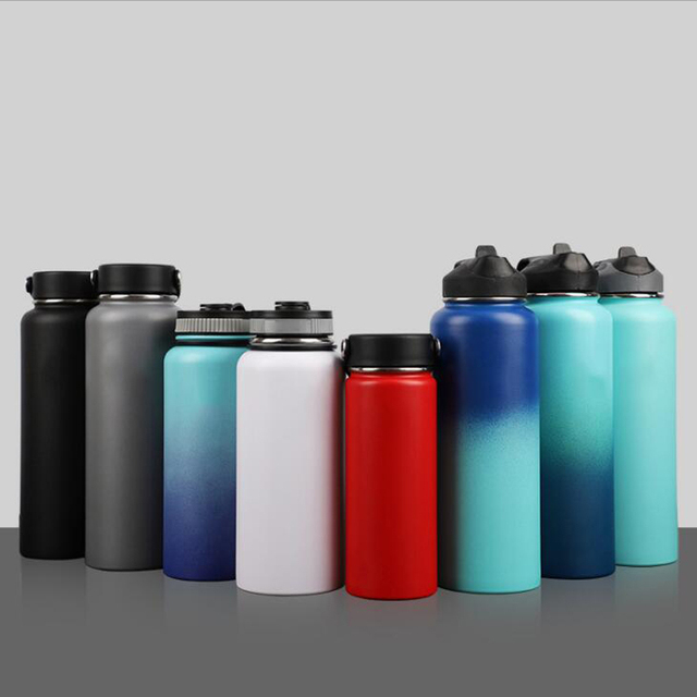 Stainless Steel Water Bottle Hydro Flask Water Bottle Vacuum Insulated Wide Mouth Travel Portable Thermal Bottle 32oz/40oz 1