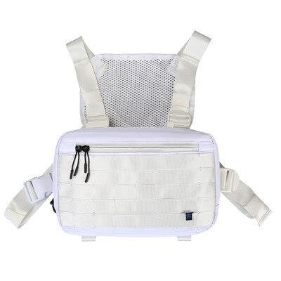 Men Tactical Chest Bag Hip Hop Boy Streetwear Black Vest Chest Rig Nylon Functional Unisex Kanye Vest Chest Rig Pack Bag