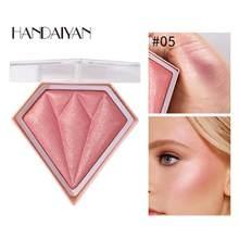 5 cores highlighter maquiagem facial paleta contorno do rosto brilho iluminador em pó destaque blush cosméticos maquillaje tslm1