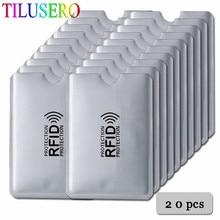 Anti Rfid de aluminio de 6x9,3 cm con bloqueo para lector de tarjetas bancarias, funda protectora de Metal para tarjetas de crédito
