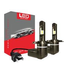 цена на 2Pcs H8 H11 Headlight Lamp H4 Led H7 Car Head Light Bulbs For Auto 9005 9006 HB3 HB4 Led 12V 24V 36W White 7600LM Headlamp