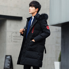 Winter Men's Long Parkas Thick Hooded Fur Collar Coats Men Overcoat Casual Army Jackets Male Brand Clothing anorak puffer jacket