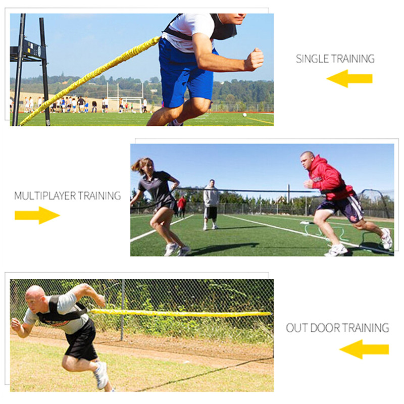 Running Training Sprint Exercise Resistance Band Bungee Fitness Speed Trainning