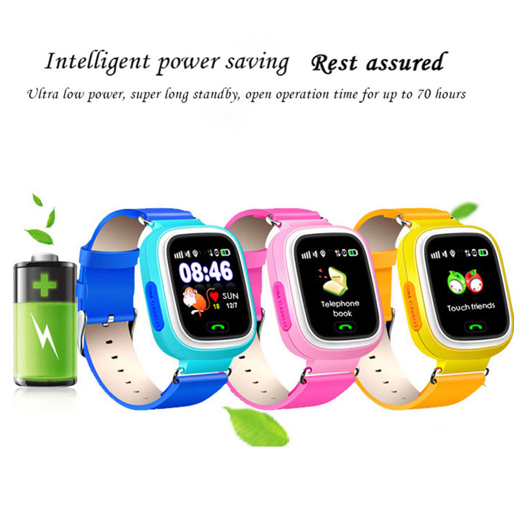 New Arrival <font><b>Q90</b></font> <font><b>GPS</b></font> Kid Smart Watch Baby Anti-lost Wristwatch SOS Call Location Device Tracker Smartwatch image