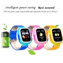 Новое поступление Q90 GPS Детские Смарт часы детские анти потерянные наручные часы SOS Вызов местоположение устройства трекер умные часы