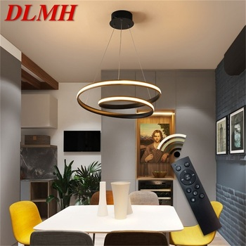 DLMH Pendant Light Fixtures LED with Remote Control Dimmable Modern Home Decorative For Dining Room Restaurant