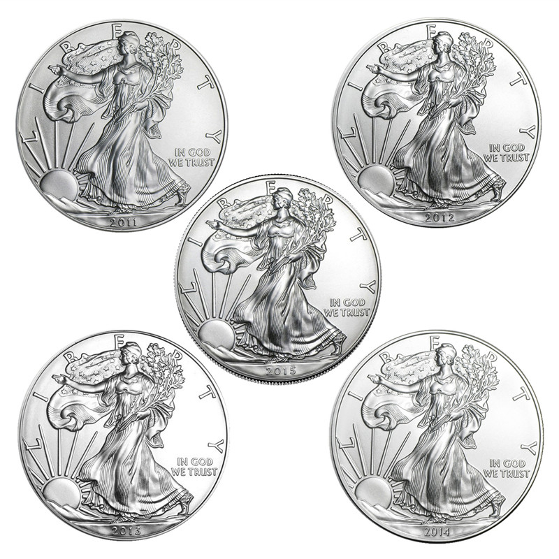 Nowy 2011-2021 wielka statua wolności wyzwanie moneta 1 oz Fine Silver kolekcje ameryka monety noworoczny prezent Fine Collection