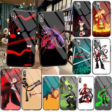Kartun Anime Tengu Randy Hitam Lembut Ponsel Case Capa Tempered Glass untuk iPhone 11 Pro XR X MAX 8X7 6S 6 Plus SE 2020 Case(China)