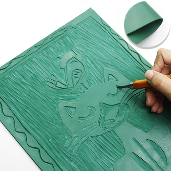 Carving Rubber Plank Beginner Plate Children PVC Board Printing Ink Frosted Sheet - discount item  41% OFF Arts,Crafts & Sewing