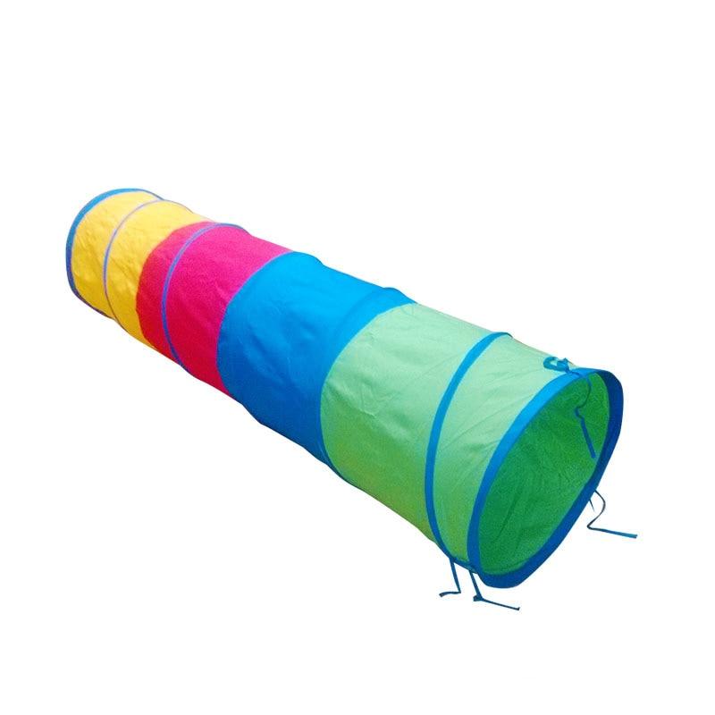 48X120 cm jeu de Tunnel court tricolore pa xing tong une installation pour les enfants à l'alésage Tube de montée formation d'intégration sensorielle Ea