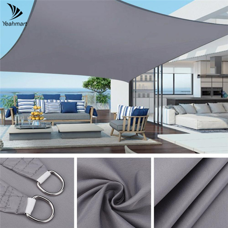 280GSM Waterproof Awning Sunshade Sun Shade Sail For Outdoor Garden Beach Camping Patio Pool Sun Canopy Tent Sun Shelter 1