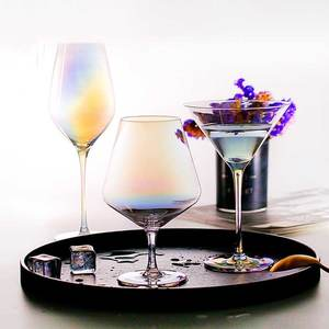 Flutes De Champanhe Cristal cálice de Vidro de Vinho Copos de Coquetel Festa de Casamento Home Bar Suco de Copo Bebendo Conhaque Rainbow Presentes