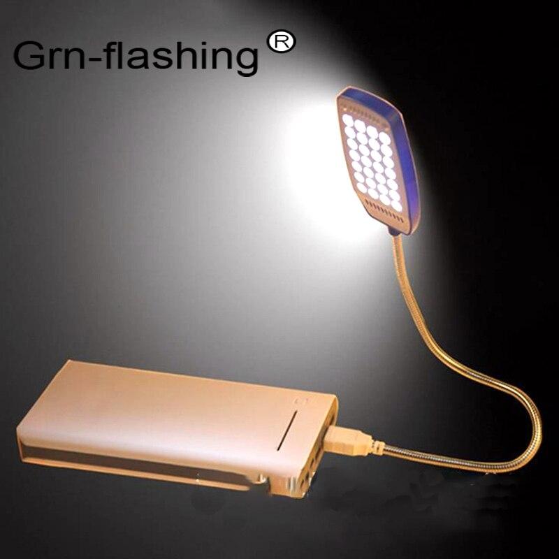 Lâmpada led ultra brilhante com 28leds, usb, flexível, dc5v, leitura, livro, banco de potência, usb, luz noturna para notebook computador portátil, pc