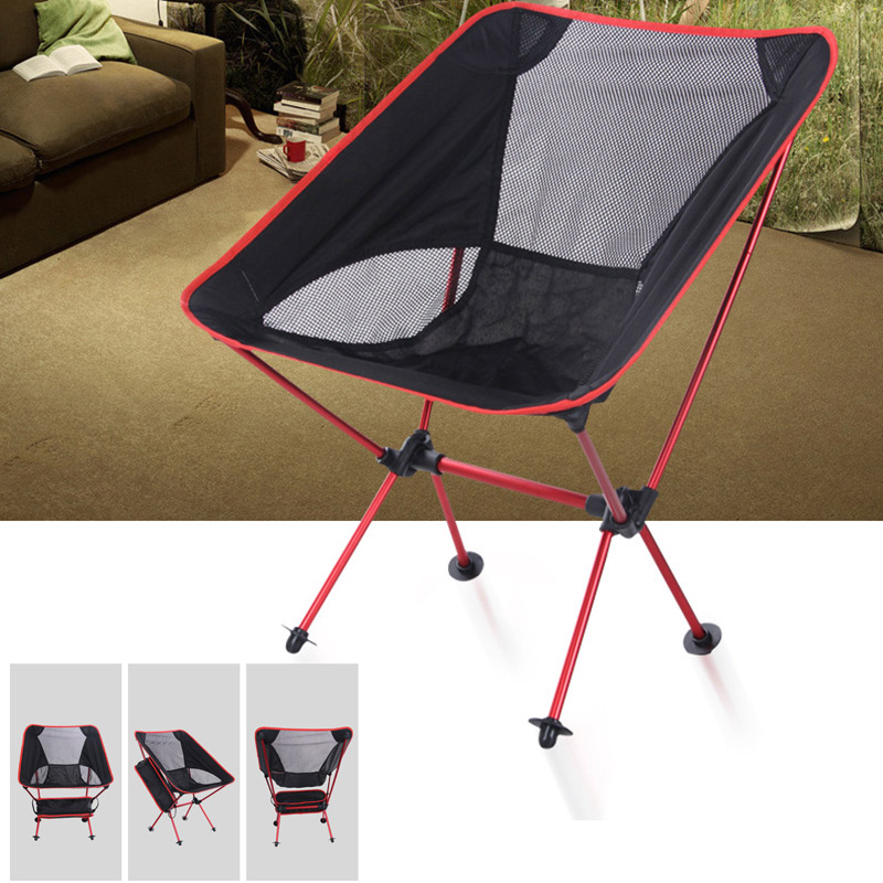 Portable Ultralight Folding Chair With Storage Bag Aluminum Alloy Oxford Chairs For Outdoor Sport Camping Hiking Fishing J8