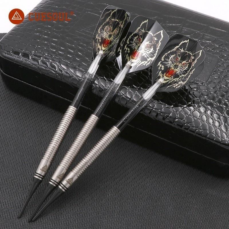 3PCS CUESOUL Tungsten Darts 18g 14.5cm Darts Professional Electronic Soft Tip Darts Wolf Dardos Feather Indoor Dartboard Games