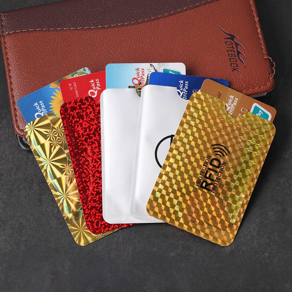 تتفاعل بطاقة البنك حجب الاتصال الخصم الائتمان كم وقائي حامل المحفظة مكافحة سرقة الجلد يغطي أنماط متعددة جديدة