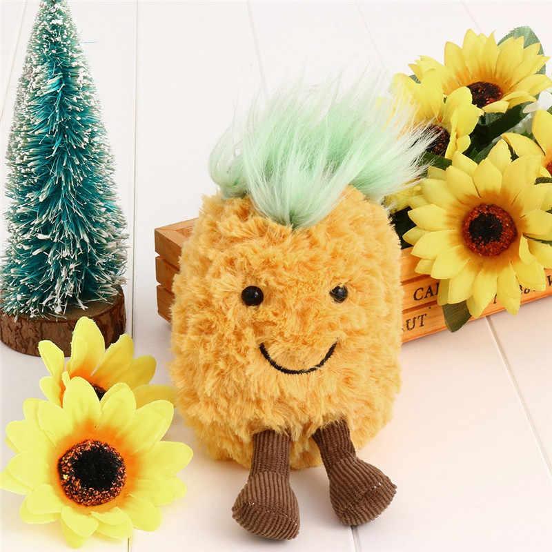 Модный милый плюшевый брелок в форме гриба Мягкая кукла игрушка яблоко кулон с ананасом фрукты плюшевая игрушка брелок мягкие куклы брелок подарок