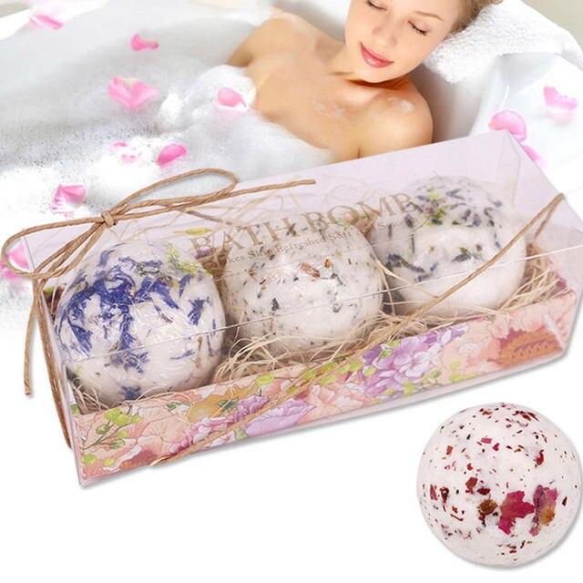 Bath Salt Bombs Bubble Salts Ball Oil Sea Salt Handmade SPA Stress Bath Accessories Shower Salts 2