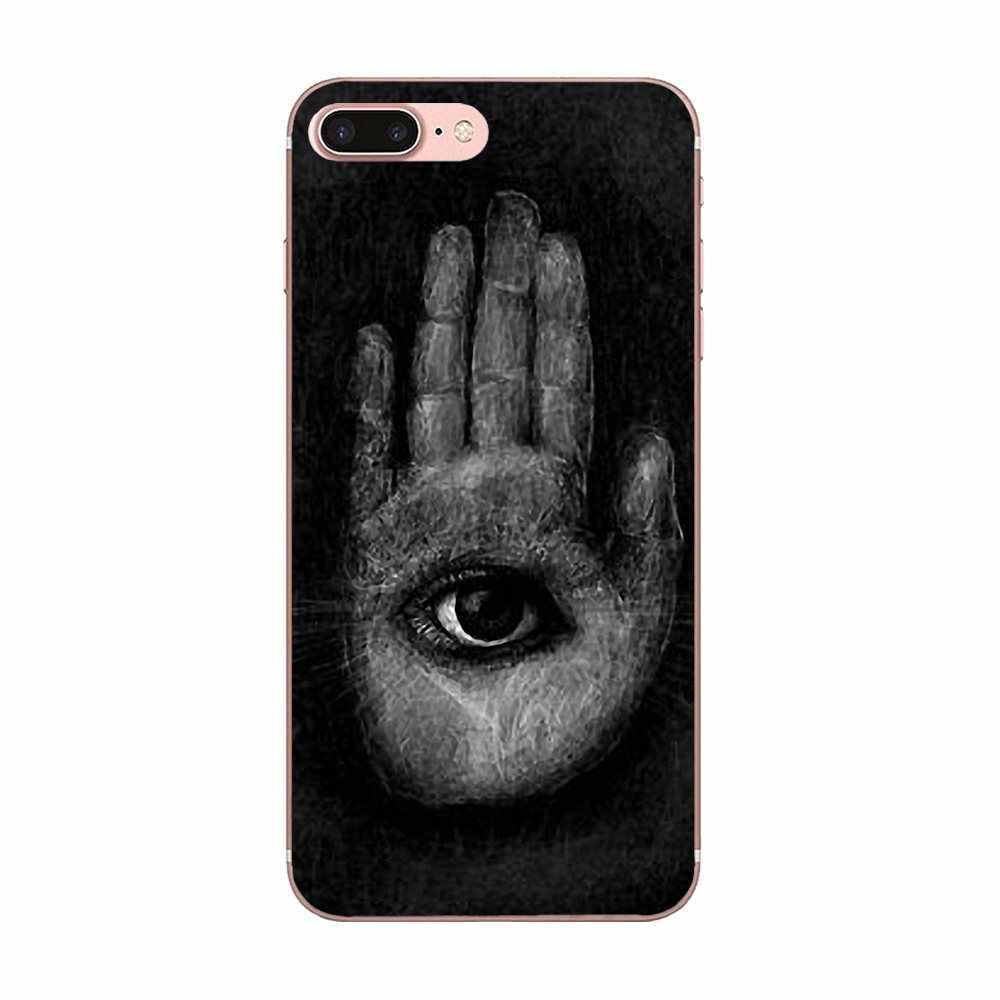 Para LG Nexus 5 5X V10 V20 V30 V40 2017 2018 2019 en venta funda de teléfono de lujo Cool HAMSA mal de ojo Guard Hand