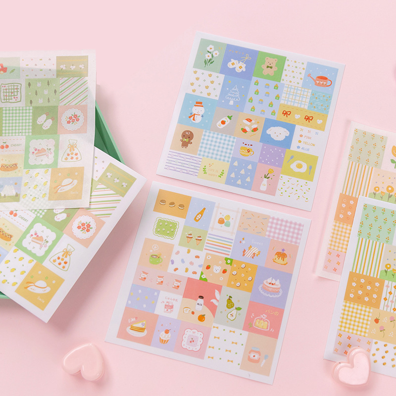 4Pcs/Pack Life Is A Little Sweet Series Stickers For Kids DIY Diary Scrapbooking Photo Ablums