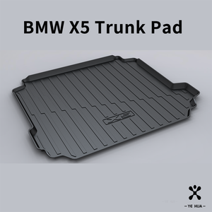 Image 3 - For BMW F15 G05 X5 2013 2014 2015 2016 2017 2018 2019 2020 Trunk mat Black Waterproof Durable Floor Mats Protection Cargo Liner