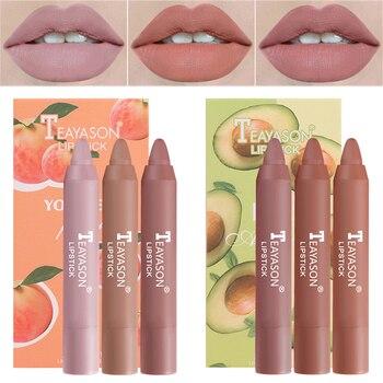3pcs/set Velvet Matte Lipsticks Set Long Lasting Sexy Red Lip Stick Tint Pen Waterproof Makeup Cosmetic Mineral Pigment Batom 1