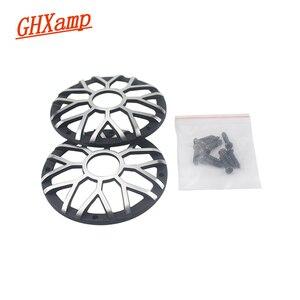 "Image 2 - GHXAMP 3 inch 92MM Car Center Speaker Grill Mesh For 3"" 3.5"" inch Car Midrange Speaker Cover Aluminum Decorative net 1Pairs"