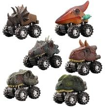 Dinosaur-Toys Mini Plastic for Boys Inertial Off-Road Vehicle Pullback Children Car Kids