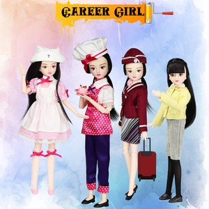 Image 5 - ICY DBS doll New xiaojing doll student series joint body bjd black hair including school uniform shoes 25cm