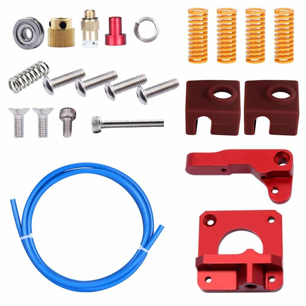 Kualitas Tinggi CR10/Ender3 Extruder Set untuk 3D Printer CR10/Ender3 Extruder + PETG Tabung + Spring + silicone Cover