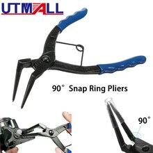 UTMALL Zangen Sicherungsringe Snap Ring Grip Zange 50 Mm Lange Nase 1,2 Mm 90 Grad Biegen Für Motorräder Lkw