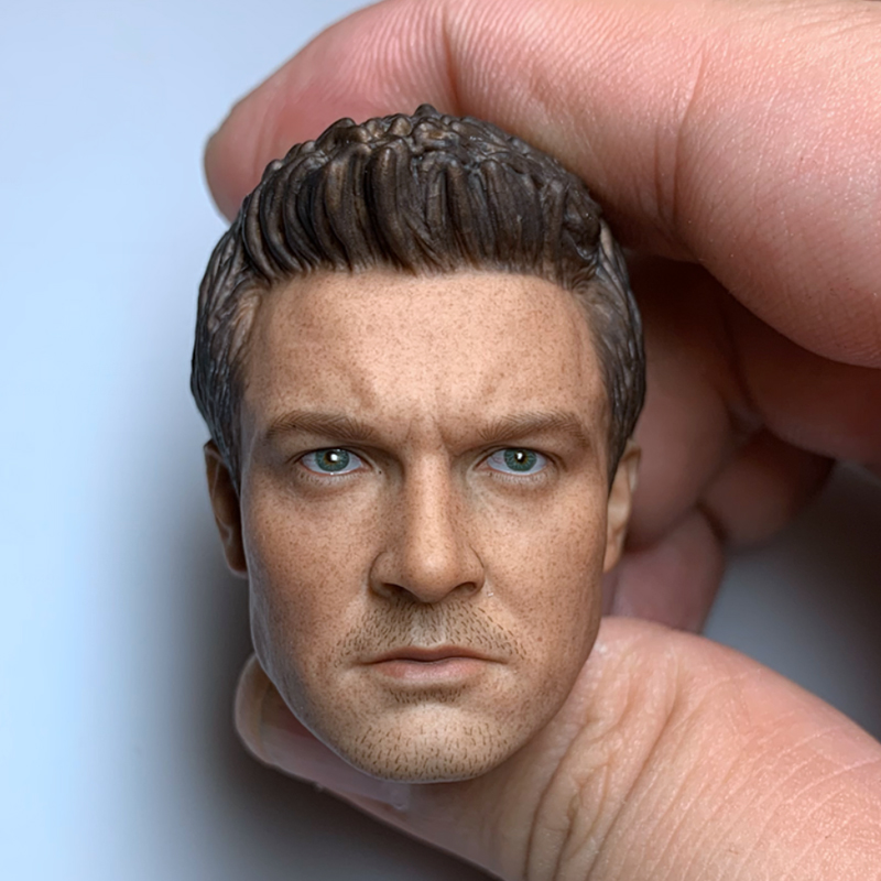1/6 Male Figure Eagle Eye Head Sculpture Avengers Hawkeye Jeremy Renner For 12 Inch Action Figure Accessory Model