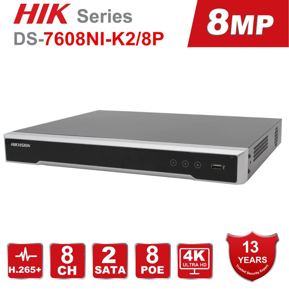 Hikvision Embedded-Plug Video-Recorder DS-7616NI-K2/16P Poe Nvr 4K SATA Interfaces Poe-Port