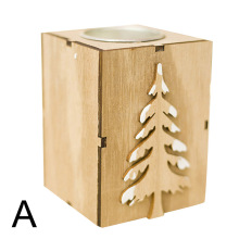 Wooden Single Tealight Candle Holders Rustic Home Christmas Wedding Table Decor  JA55